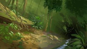 Speedpaint 003 Jungle by PatrickSchoenmaker