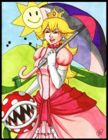 Princess Peach by Mookyvet