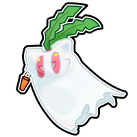 Hoppip Halloween Sticker by The-Blue-Pangolin