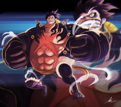 Luffy Pound Man by bustercloud