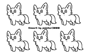 Wolf Adoptables Base (MS Paint) Free To Use by Paints-Adoptables