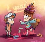 Happy Anniversary, Gravity Falls! by CherryVioletS