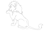 Free Male Lion Lines by Phantassel