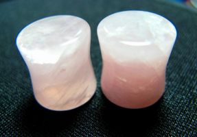 Rose Quartz Plugs by NickTheDjinn