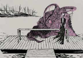 shoggoth in pink by Salo-mon