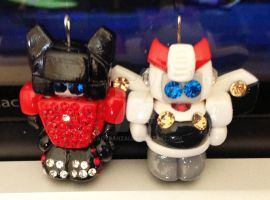 Sideswipe and Prowl Charms by LadyBanzai