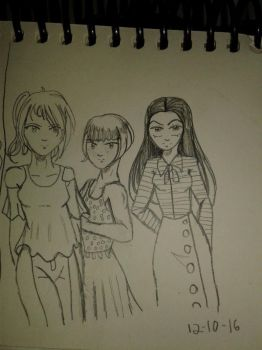 Sunny, Diane and Claudia by cellytron