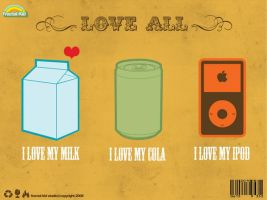 i love milk cola n ipod by Scraemer