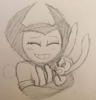 Bendy and a Bunny Child Doodle by ShinySmeargle