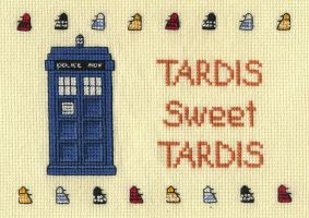 Dr. Who TARDIS Cross Stitch by kamidake