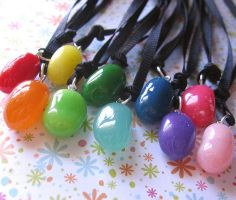 Encased Jelly Bean Charms by MigotoChou