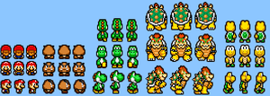 Custom RPG Mario sprites by Cyberguy64