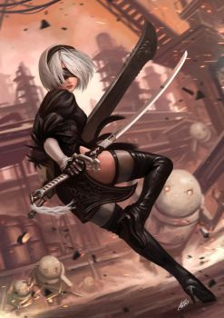 Nier Automata YoRHa Type. 2B by Luches