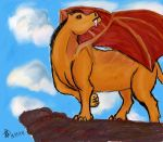 A Heroc on Pride Rock by Wowey