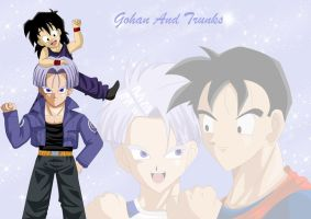 Gohan and trunks by kaxrei