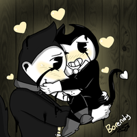 Corrupted BorEndy (Boris x Bendy) by YaoiLover113