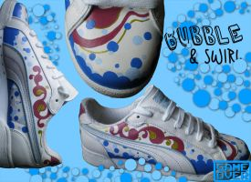 Shoes: Bubbles and Swirl by GAME-OVER-CUSTOM