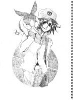 pokemon black and white sketch by therockerrabbit