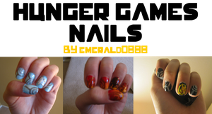 Hunger Games Nails by emerald0888