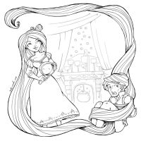 tangled inks by katiecandraw