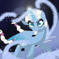 Queen Elsa Pony by rivalcat