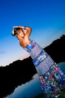 Blue girl, Blue sunset... by theinsider