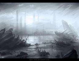 Ship-Wreck sketch by Azot2015