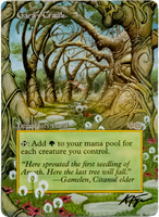 Gaea's Cradle - Borderless Alter by closetvictorian