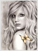 Britney with a butterfly by Zindy