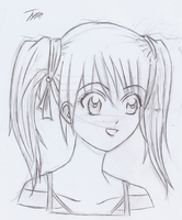 Manga Girl - Pigtails 2 by CloudRider99