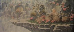 My Pretend Heaven...oil on canvas 24x53 inches by ChristopherPollari