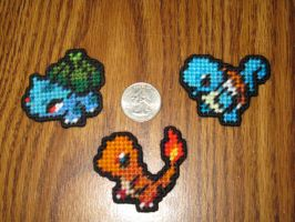 Pokemon Sprite Stitches - Kanto Starters by UWorlds