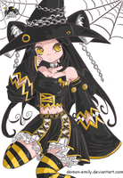Cute little witch by Demon-Emily