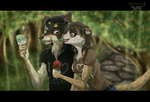 Contest - Wolf and Meerkat by Kocurzyca