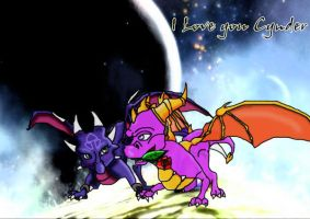 Spyro X Cynder 4ever by shadowlovesrouge