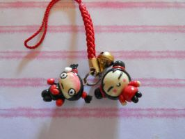 Pucca and Garu Charms by misoandramen