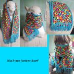 Blue Neon Rainbow Scarf by Saekoi