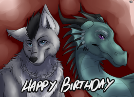 Happy Birthday to sierradragon1 and Lyskae! by Quiell