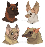Bat Faces - Furries Furever Art Book by Shadow-Wolf