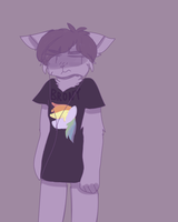 listens to rly edgy song while wearing brony shirt by crykov