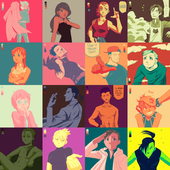 Color Palette Challenge Collage by HitanTenshi