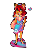 Evelyn - Pomeranian Chibi by TouchedVenus