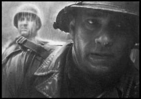 Tom Hanks Saving private ryan by FredrikEriksson1