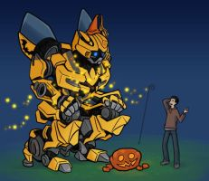 Halloween-BumbleBee by yo-3