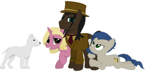 [Commission] OC Villain and his Mares by LuckySmores