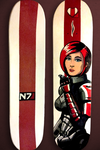 Mass Effect Custom Skateboard Work in Progress by Garrenh