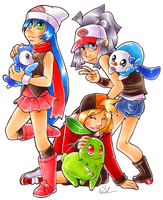pokemon trainers - starters up by megomobile
