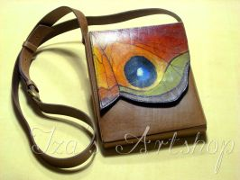 Butterfly Long Leather Pouch by izasartshop