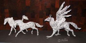 Foil Hippogriff and relatives by Reptangle
