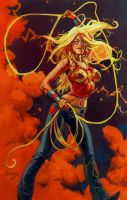 Wonder Girl with Lasso by nocturnals23